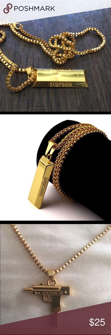 Gold Bar Accessories by Supreme Uzi Chain Gold Bar Bundle Supreme Uzi Chain And