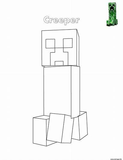 Minecraft Creeper Coloring Coloriage Printable Dessin Enderman