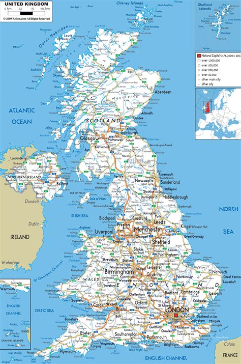 Carte Angleterre Grandes Villes by Detailed Map Of United Kingdom