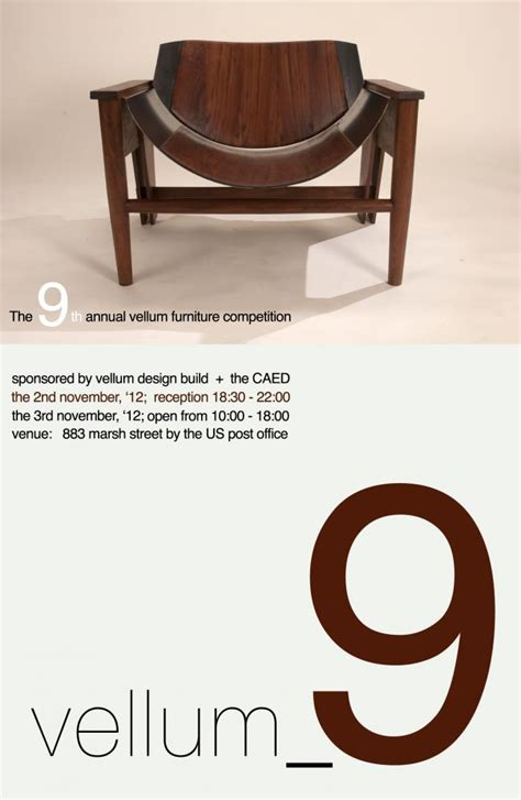 vellumcaed furniture competition exhibition