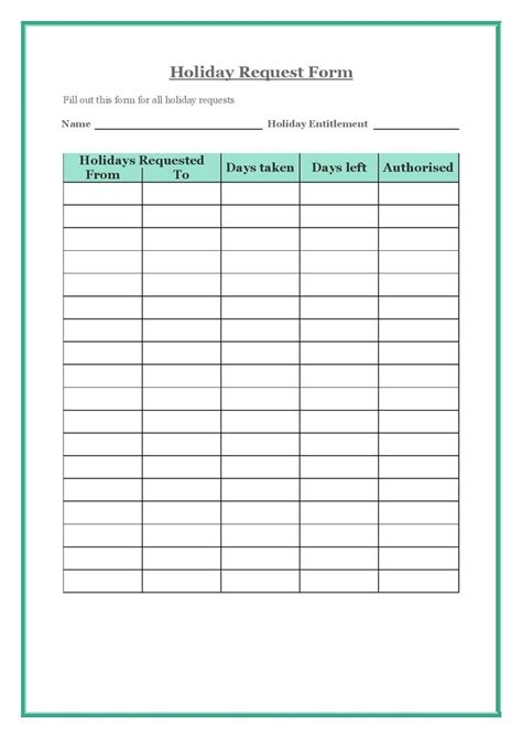a virtual assistant can create a holiday request form for