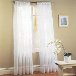 white sheer voile window panel coverings set of 2 only