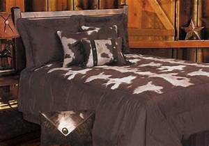 Cowhide Microfiber Bedding Rustic Comforter Set Lodge