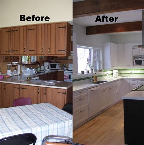 before and after pictures of kitchen cabinets painted the cost of cabinet refacing nustone transformations 9889