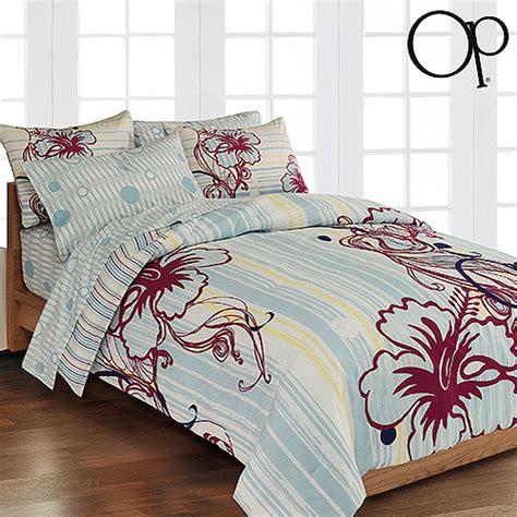 op hibiscus lounge bed in a bag bedding set walmart com
