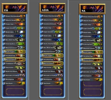warlock zoo deck hearthstone prenez vos torches les donjons arrivent