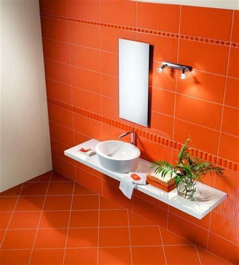 Badezimmer Fliesen Orange by Cool Orange Tiles In The Bathroom Orange You Glad