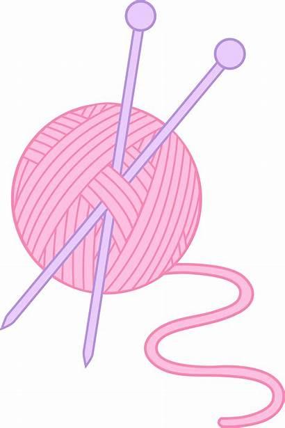 Yarn Clip Pink Knitting Needle Clipart Needles