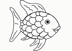 Rainbow Fish Template - Coloring Home