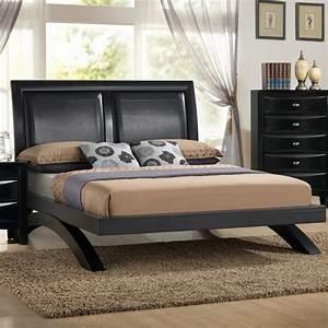 Roundhill, Furniture, Blemerey, Arch-leg, Platform, Bed, -, Walmart, Com