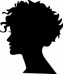 Woman Head Silhouette With Short Hair Svg Png Icon Free ...