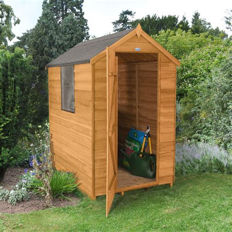 Small Sheds B Q by 6x4 Forest Apex Overlap Wooden Shed Departments Diy At B Q