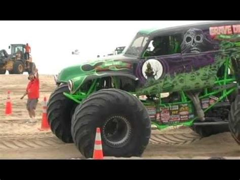 monster trucks racing videos monster truck racing on virginia beach youtube