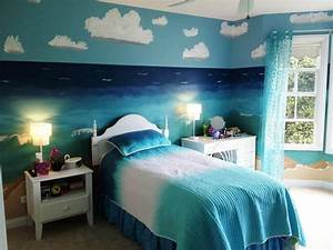 Creative Ocean Blue Bedroom Theme