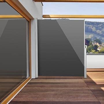 Sicht Und Windschutz Für Balkon by Blumfeldt Bari 320 Seitenmarkise 300 X 200cm Anthrazit