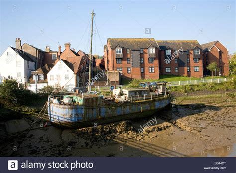 Houseboat England by Old Houseboat Newhaven East Sussex England Stock Photo