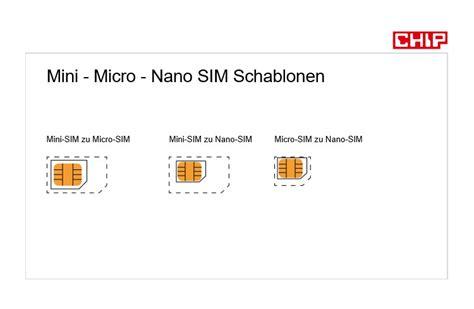 sim karte zuschneiden  gibts die nano oder micro sim