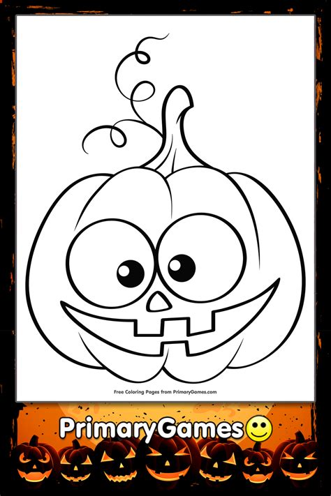 cute jack  lantern coloring page printable halloween coloring  primarygames
