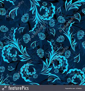 Royal Blue Floral Background