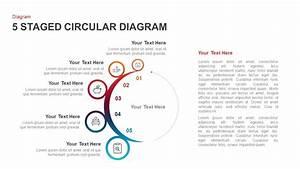 5 Staged Circular Diagram Powerpoint Template  U0026 Keynote