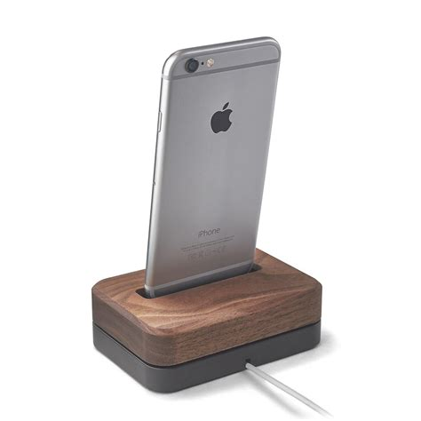 wooden iphone station wood iphone station 3 lb black stainless steel stand