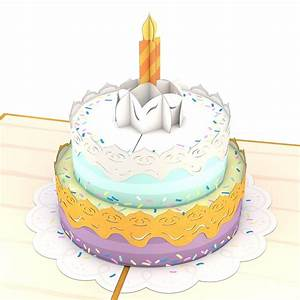 Happy Birthday Cake - Lovepop