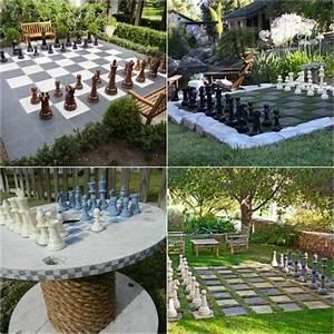 Spiele Für Garten : schach spiel im garten selber machen garteninspirationen pinterest basteln garten und ~ Frokenaadalensverden.com Haus und Dekorationen