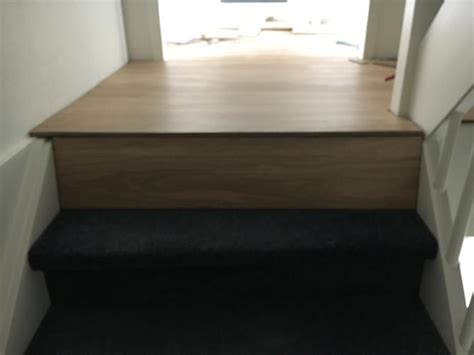 overgang trap laminaat afwerken trap overgang pvc vloer is al gelegd werkspot