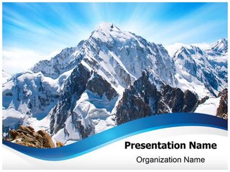 mount everest powerpoint template background