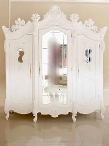 Kleiderschrank Antik Weiß : barock kleiderschrank angel armoire mit spiegel 3 t rig antik wei schr nke shop repro ~ Frokenaadalensverden.com Haus und Dekorationen