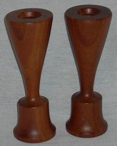 danish modern teak wood 2 way candle holders candlesticks With what kind of paint to use on kitchen cabinets for large floor standing candle holders