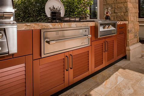 warming drawer cabinets brown jordan outdoor kitchens