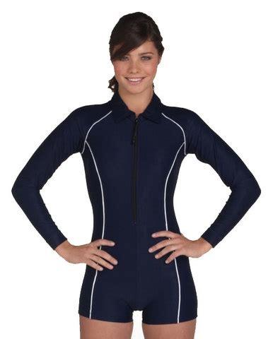 ladys boyleg swimsuit long sleeves  stingray