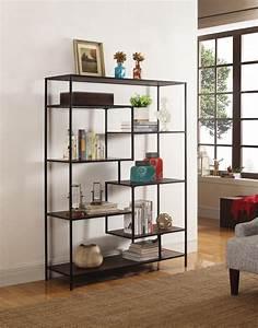 7-shelf, Geometric, Bookcase, Walnut