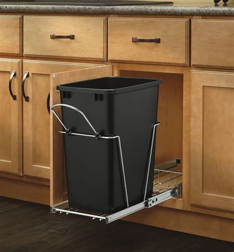 rev a shelf pull out trash can garbage bin waste container kitchen home 35 quart 691039532138 ebay