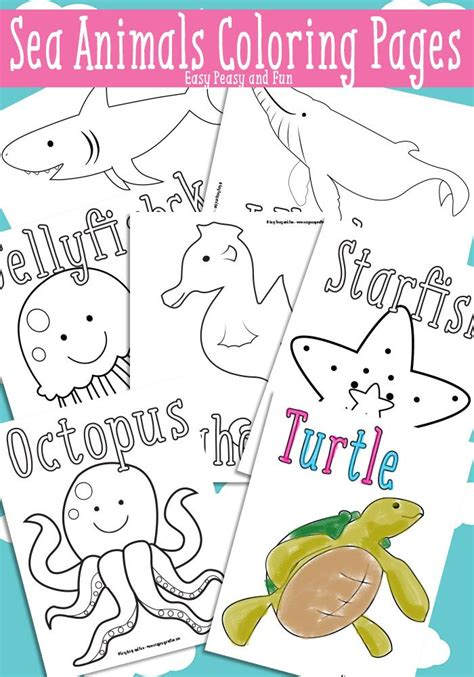 and sea animals coloring pages free printable
