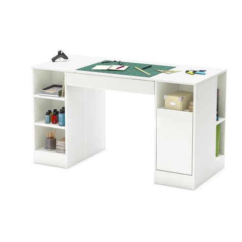 craft desk with storage counter height craft table storage organizer hobby sewing