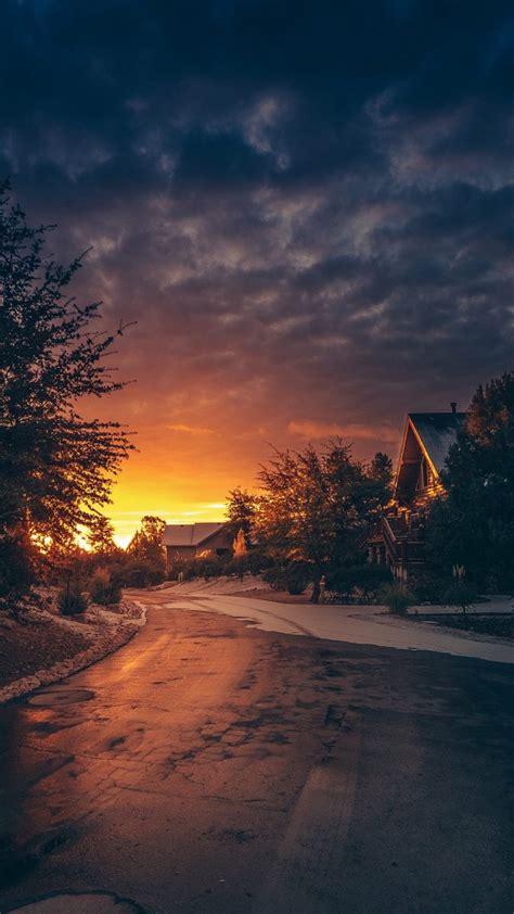 landscape golden hour winter sunset wallpapers hd