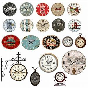 Retro Uhren Wand : analog wand stand vintage retro shabby antik uhren holz metall b ro living xxl ebay ~ Whattoseeinmadrid.com Haus und Dekorationen