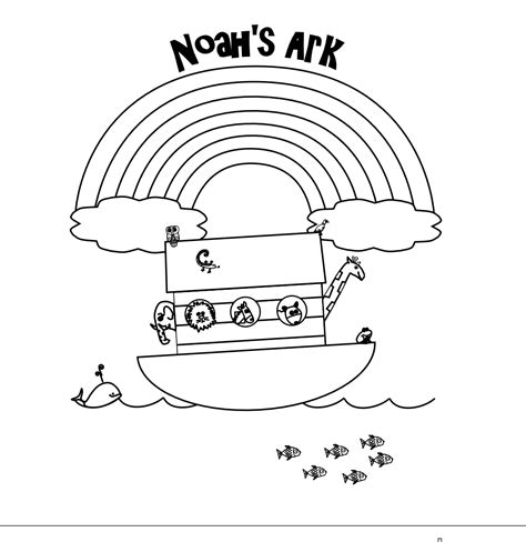 ark templates best photos of noah s ark rainbow coloring pages printable bible noah ark printable coloring