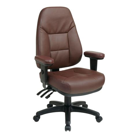 work smart burgundy leather office chair ec4300 ec4 the