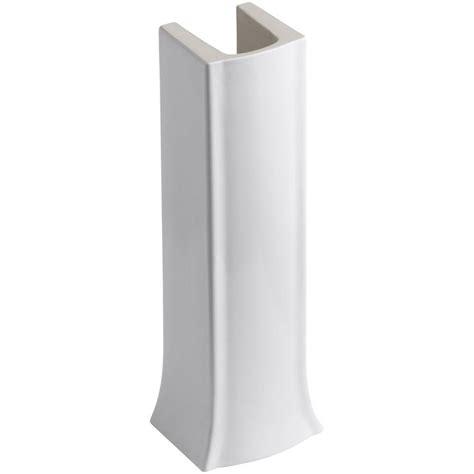 kohler archer vitreous china pedestal in white k 2357 0