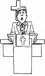 Preacher Clipart Cartoon Royalty Svg Clipartpal sketch template
