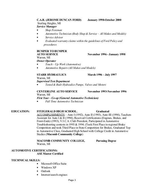 Shop Foreman Resume by Steven Hazard Resume