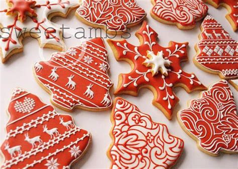 edible ornamental designs beautiful cookies  amber