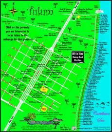 Tulum Beach Mexico Map