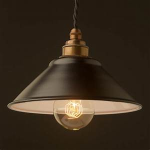 Flat black light shade mm pendant