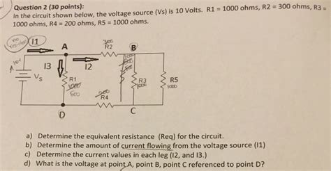 Solved The Circuit Shown Below Voltage Source