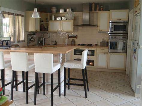 table ilot cuisine chaise pour ilot central ikea table de lit