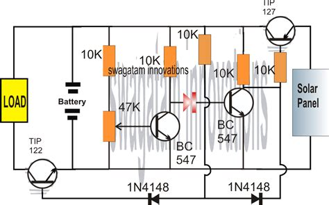 Solar Charger Circuit Using Transistors With Automatic Cut Off